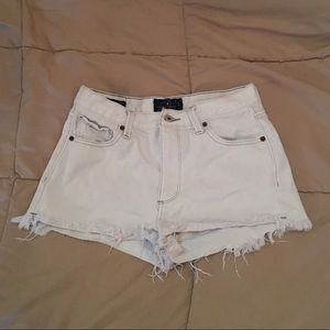Lucky Brand White Distressed Denim Shorts